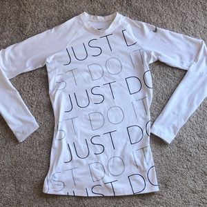 "NIKE pro ""just do it"" long sleeve"